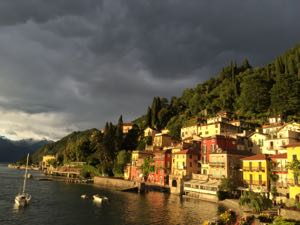 First night, I took this with my iPhone, believe it or not, in Varenna on Lake Como.