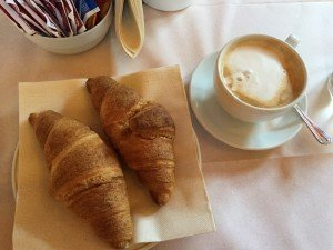 Best breakfast: homemade vegan croissants and soy cappuccinos every day in our first hotel. Wow!