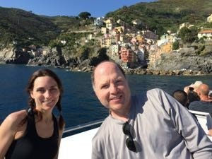 With Mr. Lisa after Hike #1 in Cinque Terre. He wasn't so smiley after Hike #2